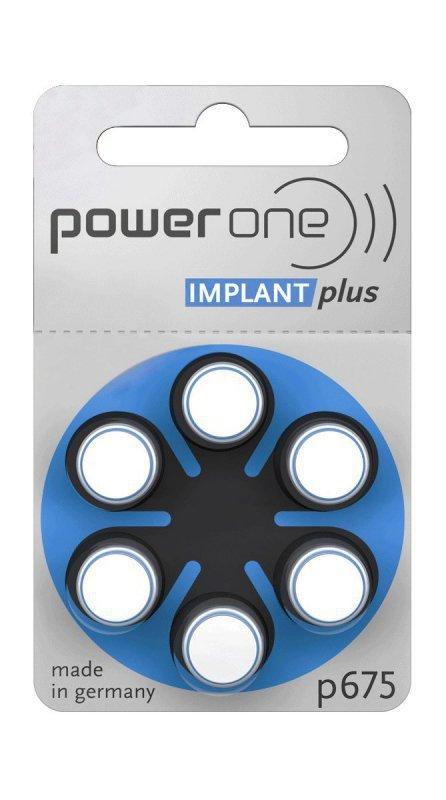 BAT0278 Bateria do aparatów słuchowych Implant Plus Power One Varta 675 6szt