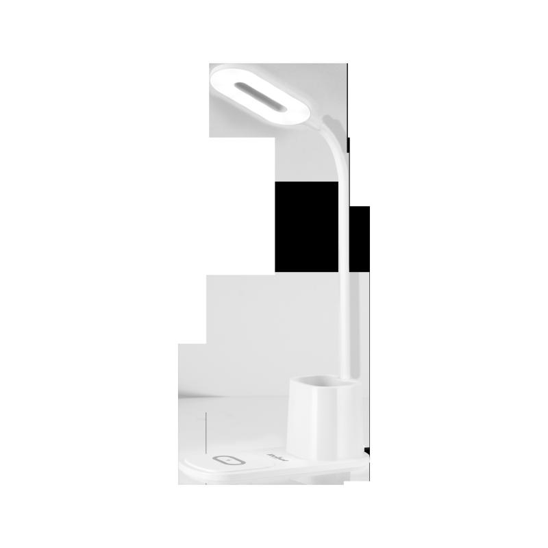 Lampka LED na biurko z ładowarką indukcyjną (biała)
