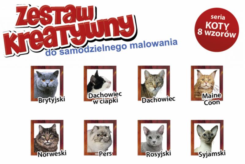 KOTY - Wypukła Malowanka Seria KOTY - SYJAMSKI