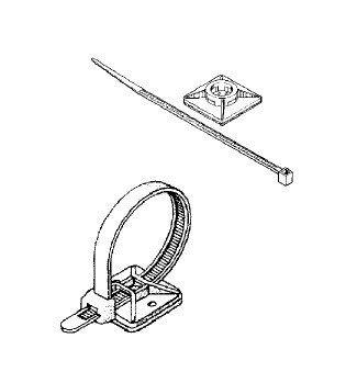 Mocowanie (uchwyt) na opaskę zaciskową 4,3 mm (4szt)