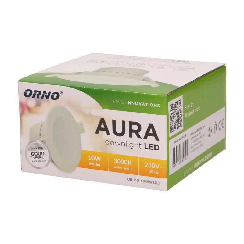 Oprawa downlight, podtynkowa AURA LED 12W, 4000K