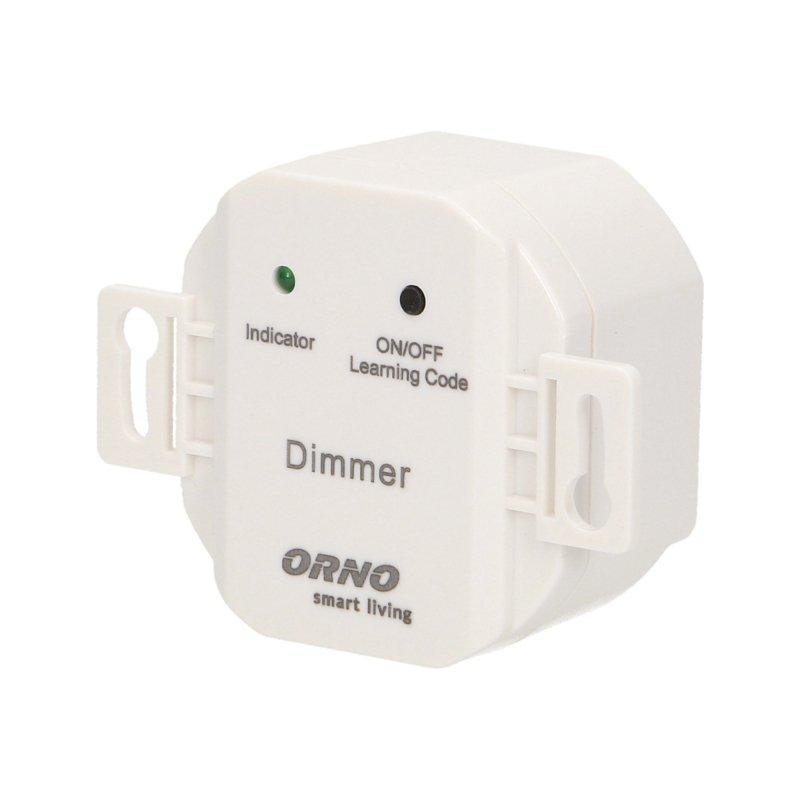Włącznik podtynkowy (dopuszkowy) ON/OFF, z funkcją ściemniania, sterowany bezprzewodowo, ORNO Smart Living
