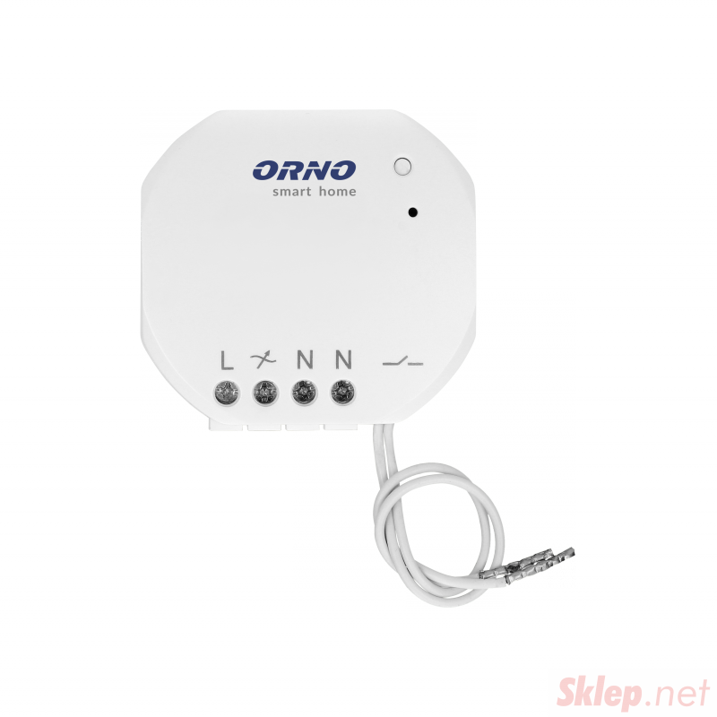 Przekaźnik podtynkowy MINI (dopuszkowy) ON/OFF sterowany bezprzewodowo,z odbiornikiem radiowym, ORNO Smart Home