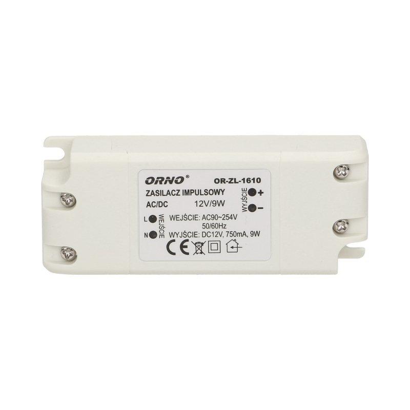 Zasilacz do LED  12VDC 9W, IP20