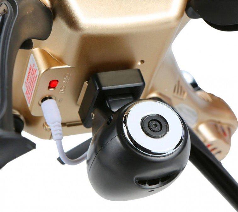Syma X8HW (kamera FPV 1MP, 2.4GHz, funkcja zawisu, zasięg do 70m, 50cm) - ZŁOTY