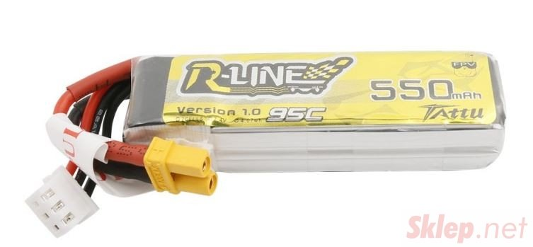 550mAh 7.4V 95C TATTU R-Line Gens Ace