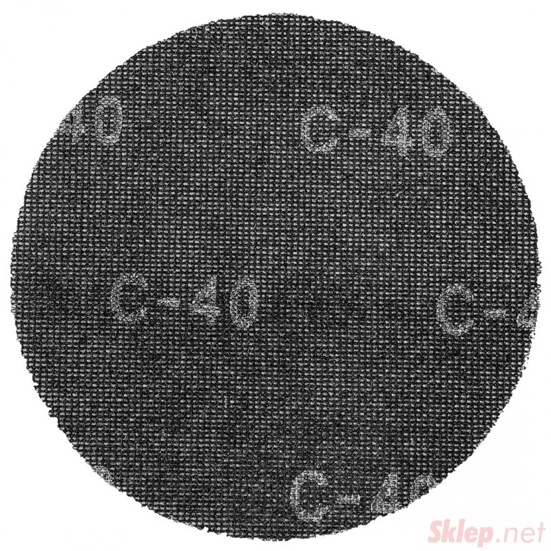 Siatka ścierna na rzep, 225 mm, K40, do szlifierki 59G260, 10 szt.