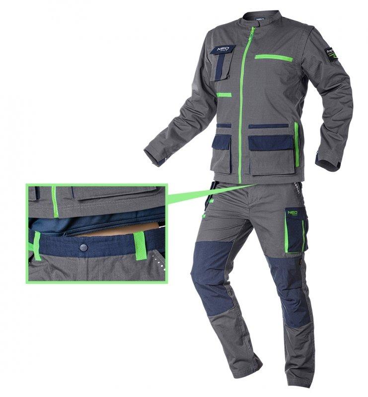 Spodnie robocze PREMIUM, 100% bawełna, ripstop, rozmiar L