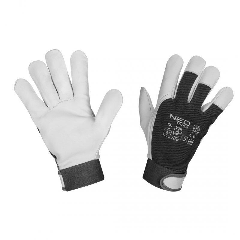 """Rękawice robocze, 2122X, skóra kozia, rzep, rozmiar 8"""", CE"""