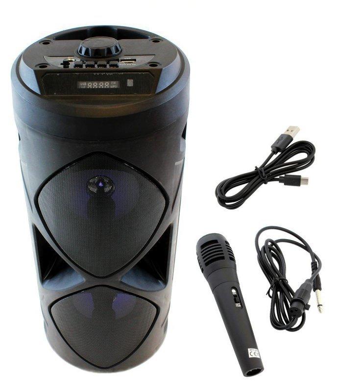 ZS45D Głosnik bt usb radio czarny+mikrof