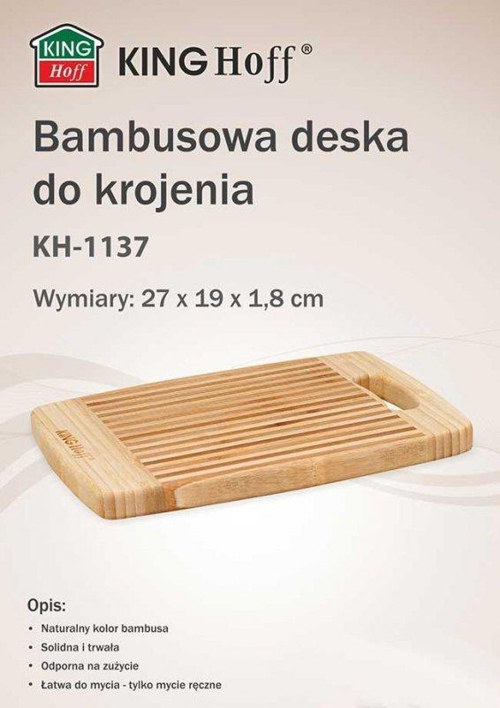 BAMBUSOWA DESKA KUCHENNA 27x19cm KINGHOFF KH-1137