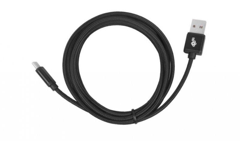 Kabel USB-USB C 2 m czarny sznurek