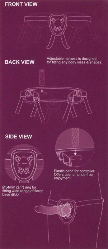 SEXXBIAN Strap-on wibrator 19cm