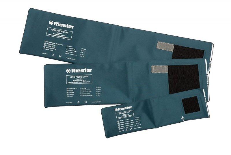 RIESTER MANKIETY DWUWĘŻYKOWE-mankiet na rzepy z podwójnym przewodem 24 - 32 cm do ciśnieniomierzy zegarowych