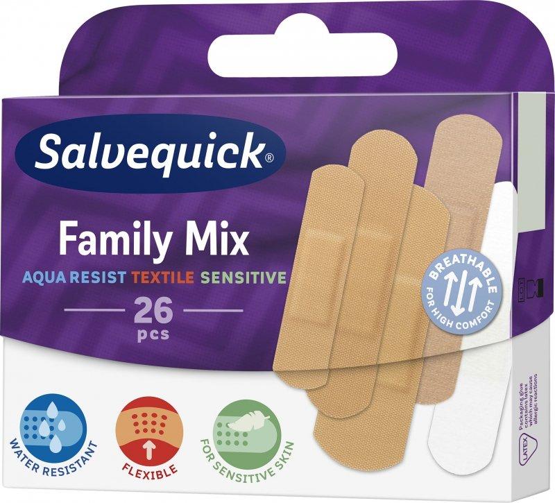 Salvequick Family Mix Rodzinny zestaw plastrów 26 szt