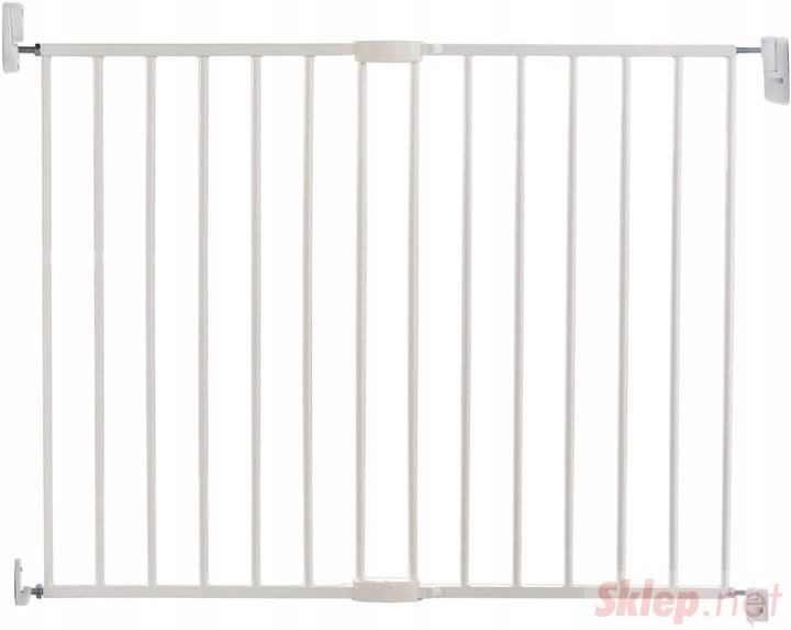 Lindam Biała barierka z półautomatycznym zamykaniem Biała barierka z półautomatycznym zamykaniem