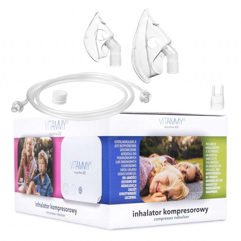 VITAMMY MICROFINE 200 / opk. 8 szt Inhalator kompresorowy do użytku domowego