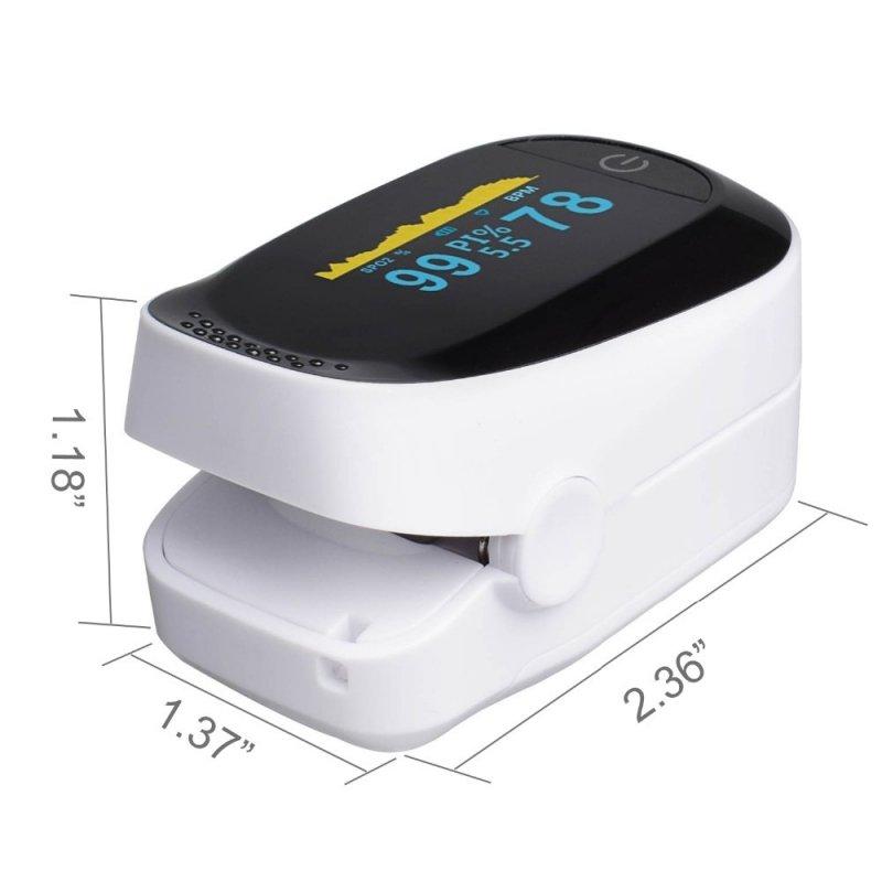 Pulsoksymetr IMDK C101A2 Pulsoksymetr OLED, pamięć 8 godzin