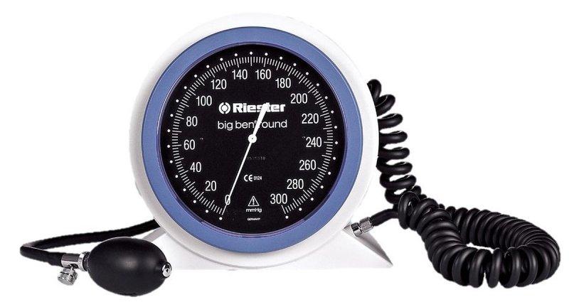 Riester Big Ben Ciśnieniomierz biurkowy zegarowy z dużą okrągłą tarczą Profesjonalny lekarski ciśnieniomierz zegarowy model ries