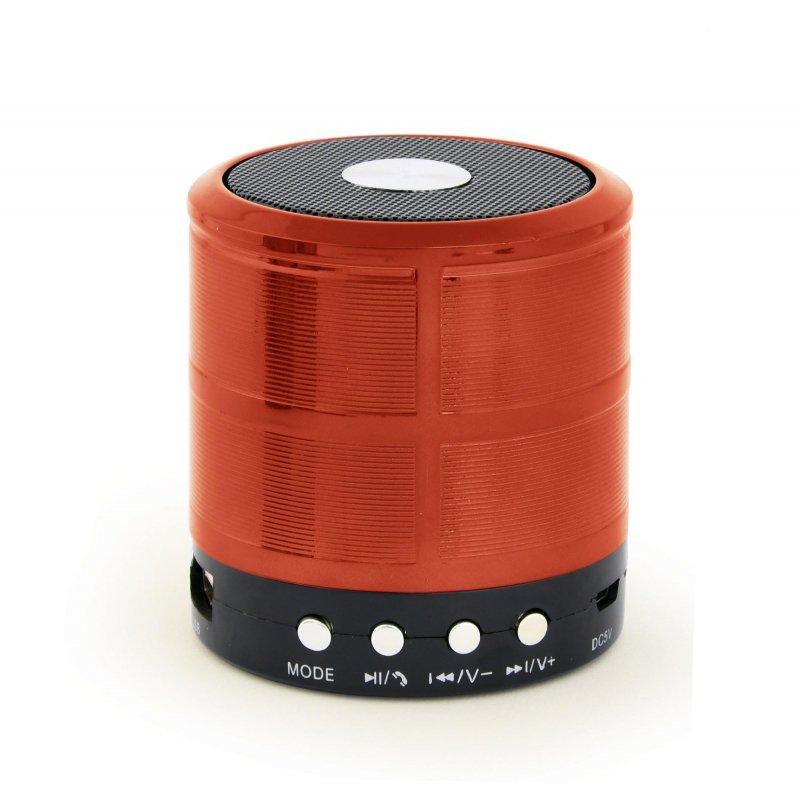 Głośnik przenośny Bluetooth z mikrofonem Gembird SPK-BT-08-R (czerwony)