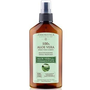 Łagodzący spray do ciała z organicznym aloesem