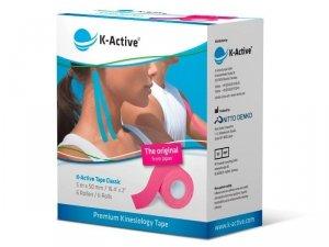 K-Active Kinesiology Tape kolor różowy  5 cm/5 m (Nitto)