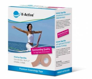 K-Active Kinesiology Tape Elite kolor beżowy 5cm/5m (Nitto)