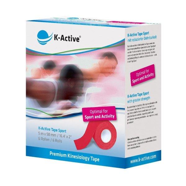 K-Active Kinesiology Tape Sport Czerwony 5 cm/5 m (Nitto)