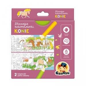 Dłuuugie kolorowanki Konie 4+