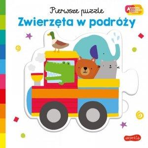 Zwierzęta w podróży. Akademia mądrego dziecka. Pierwsze puzzle