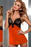 Komplet Model V-5439 Love me Black/Orange - Axami