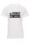 Koszulka biała - nO ticket no help - it support master
