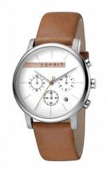 Męski zegarek Esprit ES Vision srebrny Brown ES1G040L0015