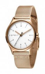 Damski zegarek Esprit ES Essential srebrny Rosegold Mesh - L ES1L034M0085