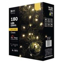 Lampki choinkowe 18m biała ciepła 180szt ZY1704T