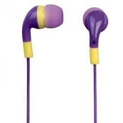 Słuchawki douszne flip flop fioletowe/żółte