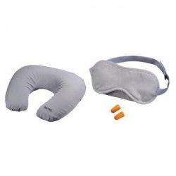 Zestaw podróżny 3 w 1 (poduszka, maska na oczy, zatyczki do uszu)