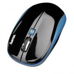 Mysz optyczna bezprzewodowa am-7600 czarna/niebieska