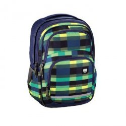 Plecak szkolny Blaby Summer Check Greeen - All Out Hama