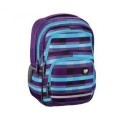 Plecak szkolny Blaby Summer Check Purple - All Out Hama