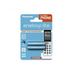 2 akumulatorki Panasonic Eneloop lite R3 AAA 550 mah