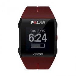 Zegarek sportowy v800 hr combo czerwony, pas tętna, uchwyt rowerowy