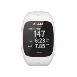 M430 biały zegarek sport. puls z nadgarstka