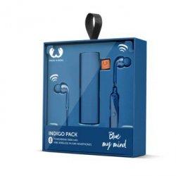 Zestaw na prezent sŁuch. vibe wireless i powerbank 3000 mah indigo