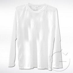 Biała koszulka z długim rękawem Lord. Rozmiar: L