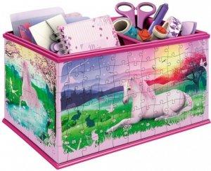 Ravensburger puzzle 3D 216 el. - GIRLY GIRL Kuferek na skarby Jednorożec + gratis