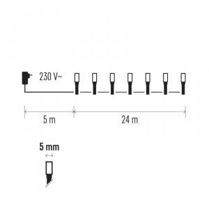 Lampki choinkowe 24m biała zimna 240szt ZY0805T