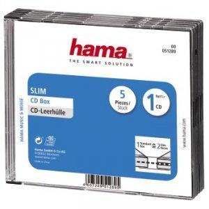 Hama pudełko cd-slim standard 5-pak 512890000