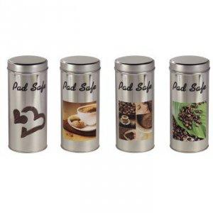 padsafe puszka,4  różne wzory, srebrna