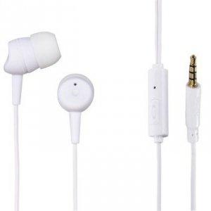 Słuchawki douszne Basic4phone z mikrofonem białe - Hama
